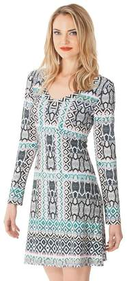 Hale Bob Deandra Tiled Dress