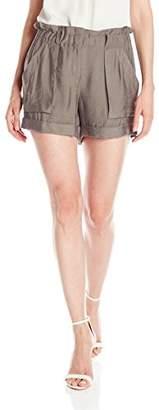 BCBGMAXAZRIA Women's Addison High Waisted Shorts