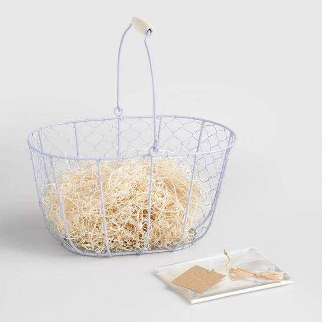 Lavender Wire Basket Kit
