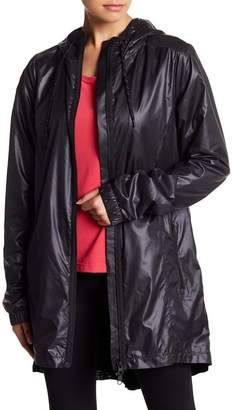 Zella Femme Pleated Water Resistant Jacket