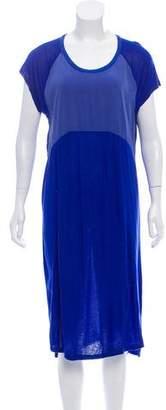 Damir Doma Silk-Paneled Midi Dress