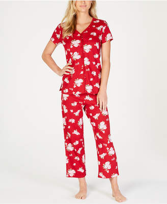 Charter Club Printed Cotton Pajama Set, Created for Macy's