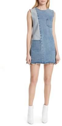 GRLFRND Hilary Patchwork Denim Dress