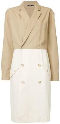 Bassike jacket style double breasted dress