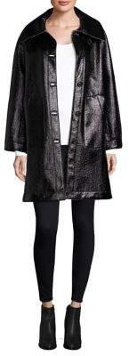 Jane Post High Shine Reversible Coat
