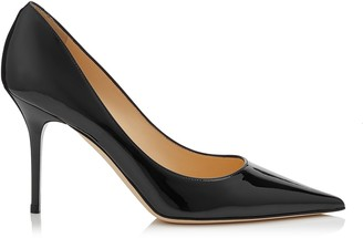 Jimmy Choo AGNES Black Patent Pointy Toe Pumps