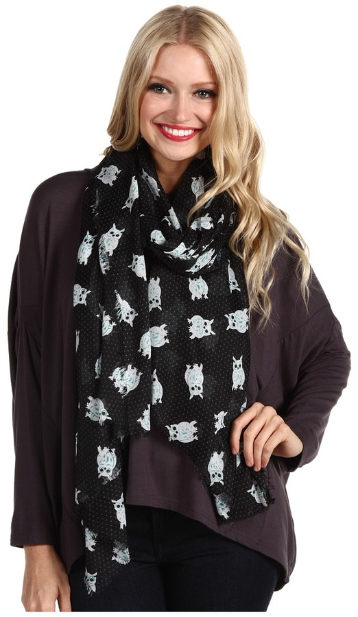 Steve Madden Owls Wrap (Black Teal) - Accessories
