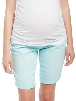 Motherhood Maternity Secret Fit Belly Roll Hem Maternity Bermuda Shorts