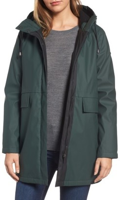 Women's French Connection Zip Front Hooded Slicker $120 thestylecure.com