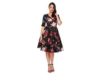 Unique Vintage Delores Swing Dress with Sleeves