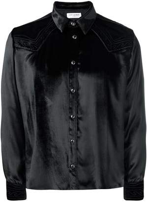 Saint Laurent velvet western shirt