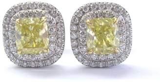 Tiffany & Co. Platinum Yellow Diamond Soleste Stud Earrings