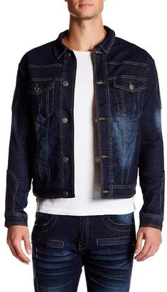 X-Ray XRAY Biker Stitch Denim Jacket