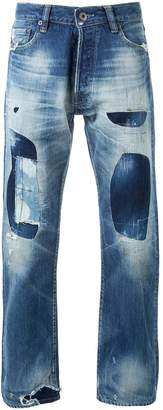Simon Miller patched straight-leg jeans