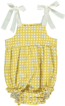 BABE & TESS Bow Checked Romper $98.40 thestylecure.com