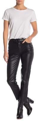 Free People Faux Leather Waist Belt Pants