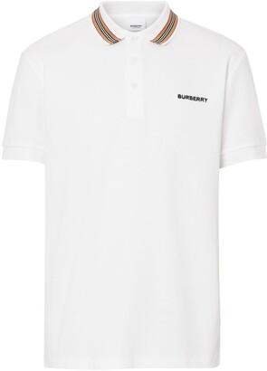 Burberry Icon Stripe Detail Cotton Piqué Polo Shirt