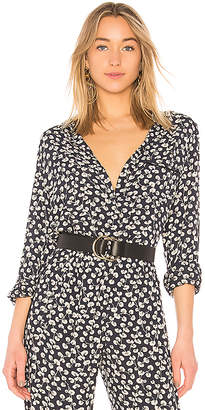 Ganni Roseburg Crepe Button Up Shirt