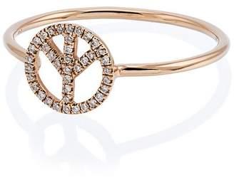 Rosa De La Cruz Rose gold and diamond peace ring