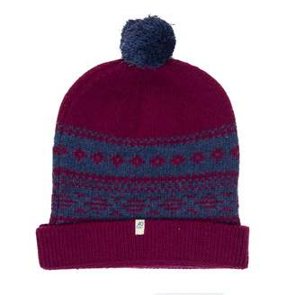 40 Colori - Magenta-Grey Blue Norwegian Wool & Cashmere Beanie