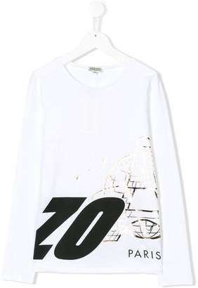 Kenzo TEEN printed long sleeve T-shirt