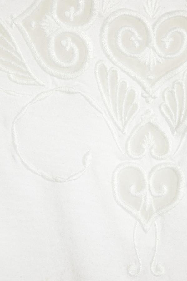Faith Connexion Embroidered cotton-jersey top
