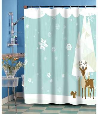 """Carnation Home Fashions Forest Friends"""" Fabric Shower Curtain"""