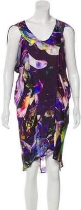 Zero Maria Cornejo Abstract Print Dress