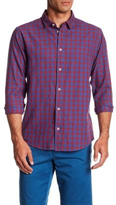 RVCA Hayes Plaid Flannel Regular Fit Sport Shirt