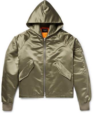 Fear Of God Oversized Satin Hooded Bomber Jacket