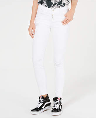 Flying Monkey Ripped Button-Fly Jeans