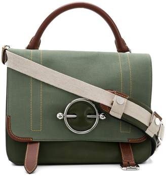 J.W.Anderson military green large Disc satchel
