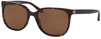 60f887ae6f Tory Burch Slim Square Polarized Sunglasses