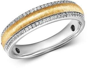 Bloomingdale's Diamond Men's Band Ring in 14K White Gold & 14K Yellow Gold, 0.25 ct. t.w. - 100% Exclusive