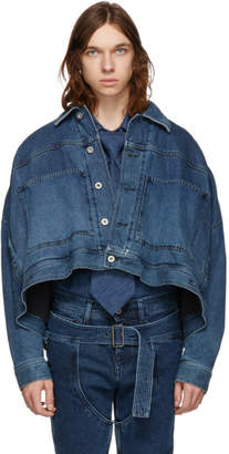 Diesel Red Tag Blue Shayne Oliver Edition Denim Oversized Cropped Jacket