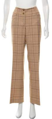 Dolce & Gabbana Plaid Virgin Wool Pants