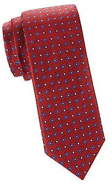 Canali Men's Silk Geo Medallion Tie