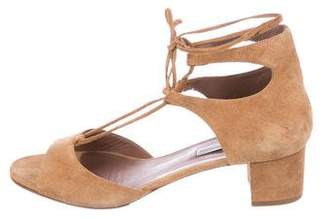 Tabitha Simmons Suede Tie Sandals