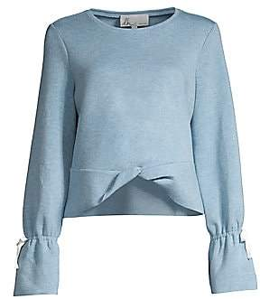 DH New York DH New York Women's Twist Front Bell Sleeve Top