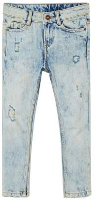 MANGO Slim-fit bleach wash jeans