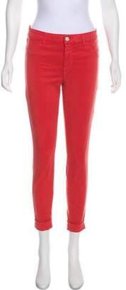J Brand Anja Cuffed Crop Skinny Pants