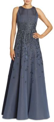 Carmen Marc Valvo Beaded Silk Faille Ballgown $4,895 thestylecure.com