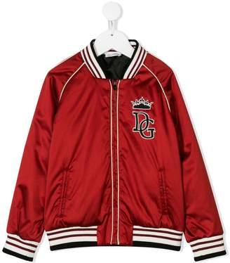 Dolce & Gabbana logo appliqué bomber jacket