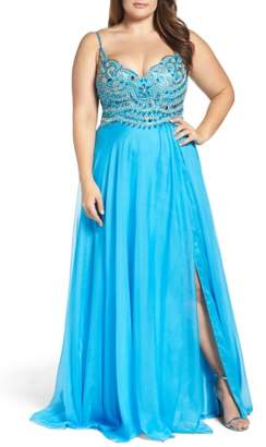 Mac Duggal Embellished Gown
