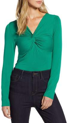 Halogen Knot Neck Reversible Tee (Regular, Petite & Plus Size)