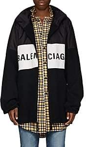 Balenciaga Women's Logo-Print Denim Jacket - Black