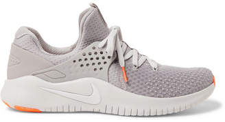 Nike Training - Free TR V8 Rubber-Trimmed Mesh Sneakers - Gray