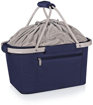 Picnic Time Metro Navy Basket Collapsible Cooler Tote