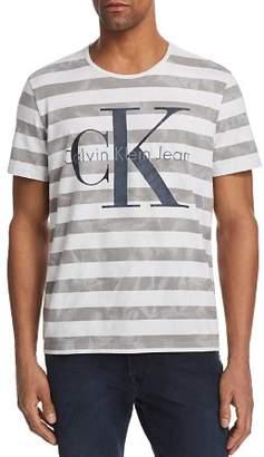 Calvin Klein Jeans Tie Dye Stripe Reissue Logo Tee