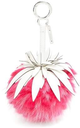 Fendi Pineapple leather bag charm